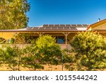 array of solar panels on north... | Shutterstock . vector #1015544242