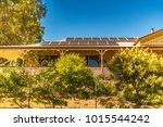 array of solar panels on north... | Shutterstock . vector #1015544242