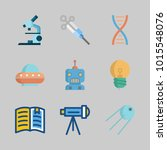 icons about science with... | Shutterstock .eps vector #1015548076