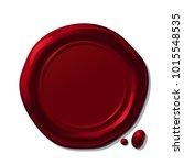 vector round red wax seal.... | Shutterstock .eps vector #1015548535