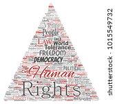 vector conceptual human rights... | Shutterstock .eps vector #1015549732