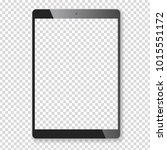 black portable tablet pad mock... | Shutterstock .eps vector #1015551172