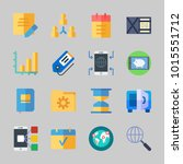 icons about business with... | Shutterstock .eps vector #1015551712