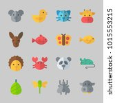 icons about animals with... | Shutterstock .eps vector #1015553215