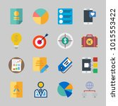 icons about business with... | Shutterstock .eps vector #1015553422