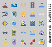 icons about beach and camping...   Shutterstock .eps vector #1015555522