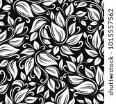 vector seamless black and white ... | Shutterstock .eps vector #1015557562