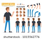 casual man character... | Shutterstock . vector #1015562776