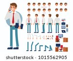 business man character... | Shutterstock . vector #1015562905