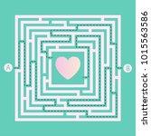labyrinth shape design element. ... | Shutterstock .eps vector #1015563586