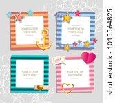 decoration vector template... | Shutterstock .eps vector #1015564825