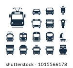 tram icon. collection of... | Shutterstock .eps vector #1015566178
