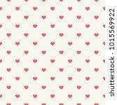 pink heart on white background  ... | Shutterstock .eps vector #1015569922