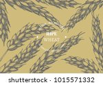 vector vintage background with... | Shutterstock .eps vector #1015571332