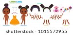 stylized characters set for... | Shutterstock .eps vector #1015572955
