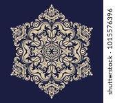 oriental golden pattern with... | Shutterstock . vector #1015576396