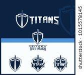 sword vector for titans theme...   Shutterstock .eps vector #1015578145