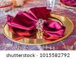 luxury wedding reception table... | Shutterstock . vector #1015582792