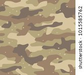 camouflage seamless pattern.... | Shutterstock .eps vector #1015585762