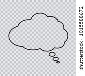 dream cloud black color... | Shutterstock .eps vector #1015588672