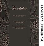 vector paisley invitation design | Shutterstock .eps vector #101559055
