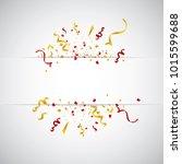 colorful bright confetti ... | Shutterstock .eps vector #1015599688