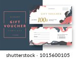 abstract gift voucher card... | Shutterstock .eps vector #1015600105