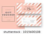 abstract gift voucher card... | Shutterstock .eps vector #1015600108