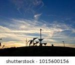 sunset in tel aviv in israel   Shutterstock . vector #1015600156