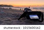 sunset in tel aviv in israel   Shutterstock . vector #1015600162