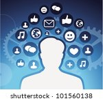 social media icons   male... | Shutterstock .eps vector #101560138