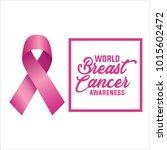 breast cancer awareness ribbon...   Shutterstock .eps vector #1015602472