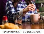 cocoa drink cooking | Shutterstock . vector #1015602706