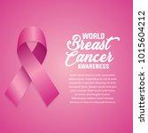 breast cancer awareness ribbon... | Shutterstock .eps vector #1015604212