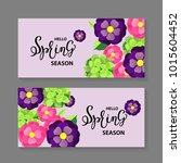 spring sale background with... | Shutterstock .eps vector #1015604452