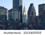 skyline of midtown manhattan in ...   Shutterstock . vector #1015605505