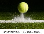 match point with a tennis ball... | Shutterstock . vector #1015605508
