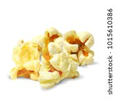 tasty popcorn. elements for... | Shutterstock .eps vector #1015610386
