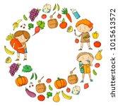 children. school and...   Shutterstock .eps vector #1015613572