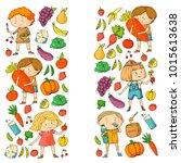 children. school and... | Shutterstock .eps vector #1015613638