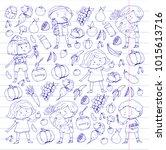 children. school and... | Shutterstock .eps vector #1015613716