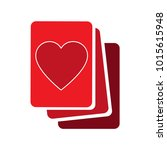 heart vector icon | Shutterstock .eps vector #1015615948