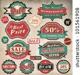 collection of vintage retro... | Shutterstock .eps vector #101561908