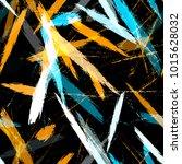 dry brush grunge strokes and... | Shutterstock .eps vector #1015628032
