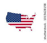 usa vector flag  | Shutterstock .eps vector #1015628158