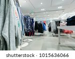 the clothing market is selling...   Shutterstock . vector #1015636066
