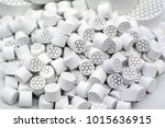 chemical ceramics   honeycomb... | Shutterstock . vector #1015636915