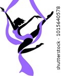 silhouette of female dancer on... | Shutterstock .eps vector #1015640578
