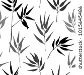 tropical leaves  jungle pattern.... | Shutterstock .eps vector #1015645486
