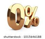 golden zero percent or 0  ... | Shutterstock . vector #1015646188